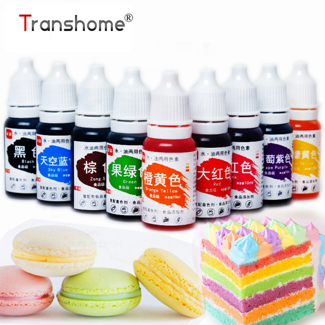 Transhome Food Coloring 1Pcs Edible Pigment Healthy Safe Fondant Cake Decorating Tools Macaron Cream Cake Baking & Pastry Tools