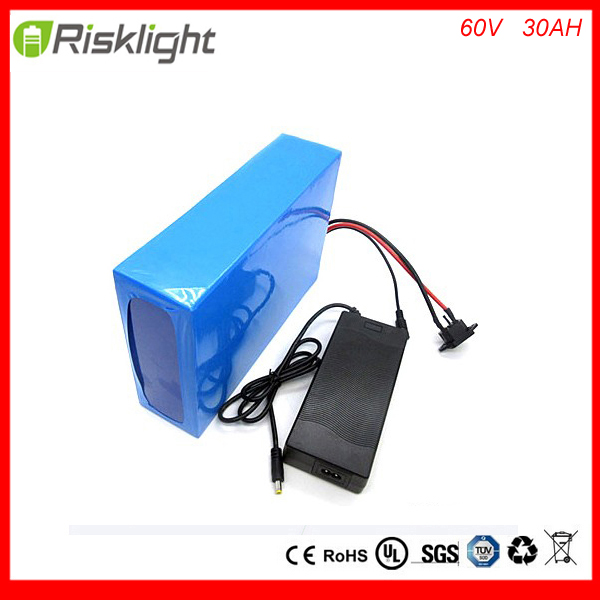 60V 30Ah Battery Pack 3000w e bike Battery 60v Lithium Scooter Bike Battery 60v with  Charger,30A BMS  For Samsung  30B cell free customs taxes super power 1000w 48v li ion battery pack with 30a bms 48v 15ah lithium battery pack for panasonic cell