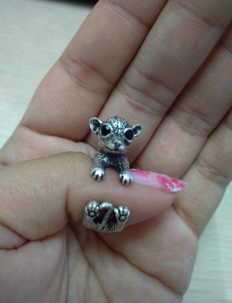 Einzigartige handgemachte Boho Chic Retro Chihuahua Ring weibliche und männliche Haustier Liebhaber Geschenkidee - 12pcs / lot (3 Farben freie Wahl)