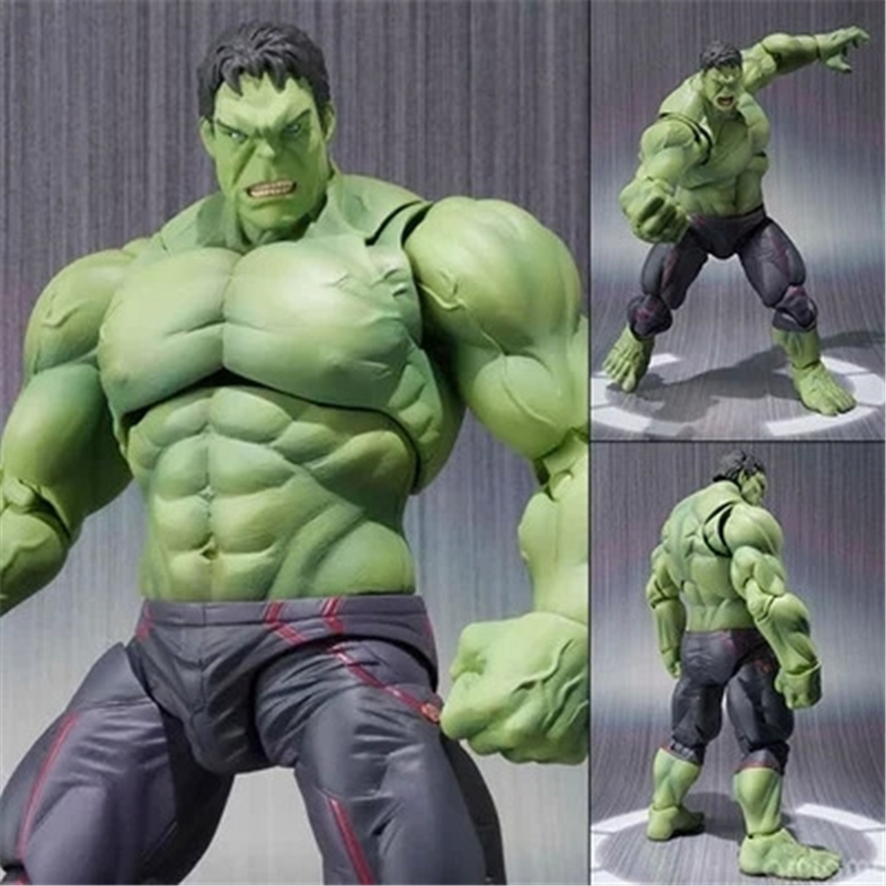 все цены на Original Box Super Hero Hulk The Avengers Movie Hulk Action Figures Juguetes PVC Model Dolls Movable Anime Figure Baby Kids Toys онлайн