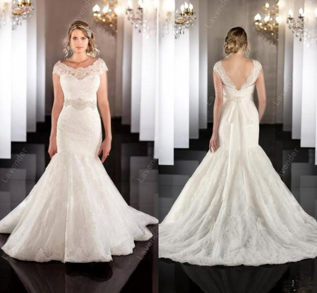 Bridal Gown 2015 Stunning Lace Bling Wedding Dress With Sash Charm ...