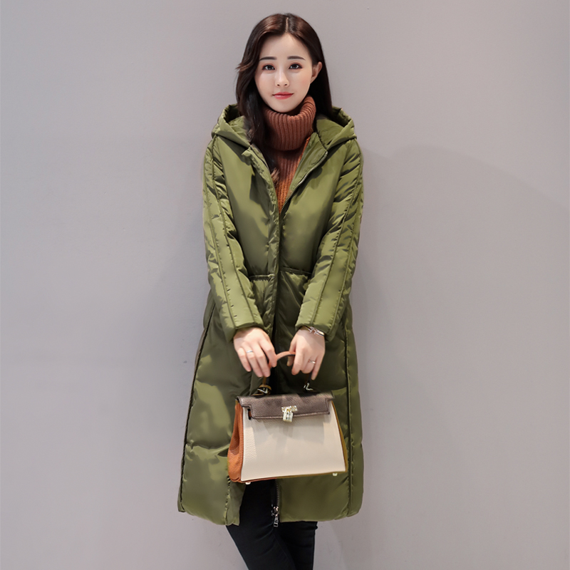 QIMAGE Fashion Coats 2017 Winter Coat Women Parka Long Thick Slim Womens Coats And Jackets Outerwear Big size Parka