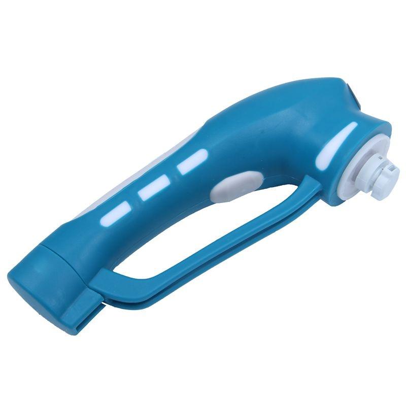 Портативный ручной бытовой скраб набор кистей Электрический Мощный скруббер щетка для кухни ванной комнаты - Цвет: Blue
