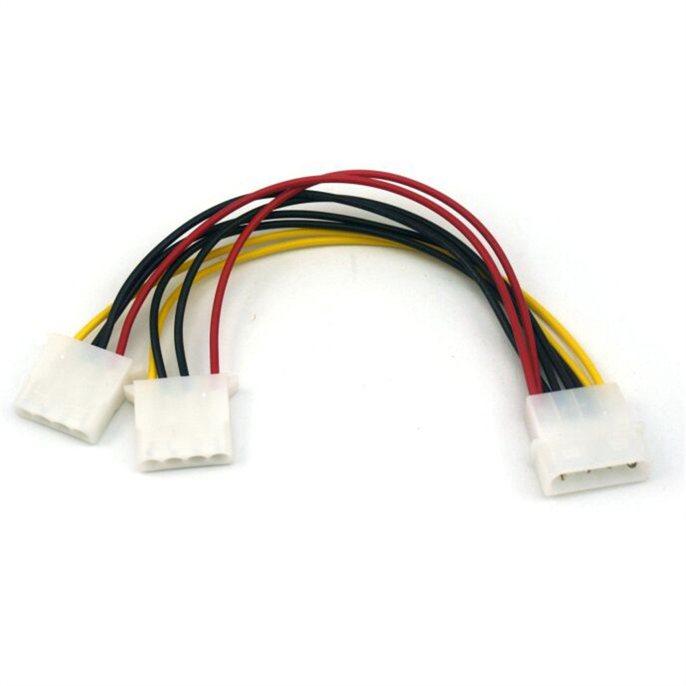 New Power Supply Cable 180mm 2 Way 4 Pin PSU Power Splitter Cable LP4 Molex 1 To 2 Gadget For PC/CD/DVD L920#1
