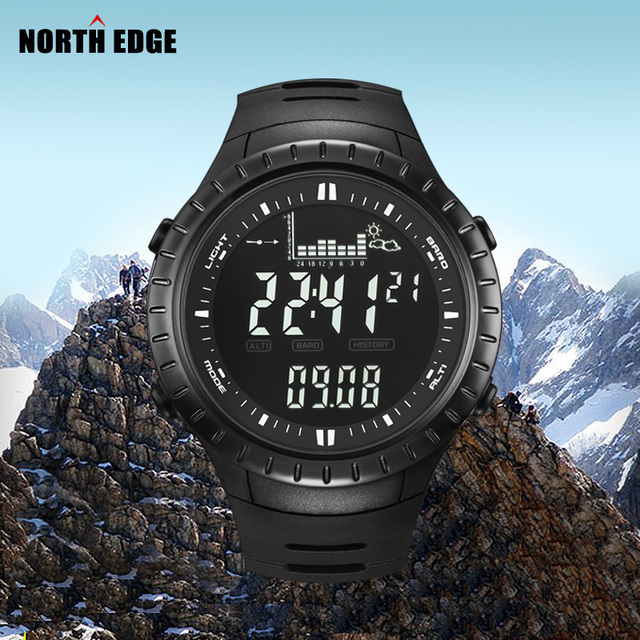 Best Promo Hot!!! Fishing Altimeter Barometer Thermometer Altitude Men Digital Watches Sports Clock Climbing Hiking Wristwatch Montre Homme