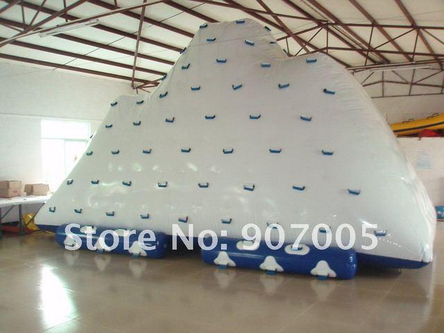 WT05 Сумасшедший Цена Гигантский Надувной Восхождение Айсберг/водная горка 0.9 мм ПВХ 5.5 м * 4.5 м * 4 м + Ремкомплекты + Вентилятор + Бесплатная Доставка