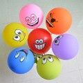 100 unids/lote Grandes Ojos Sonríen Bolas Decoración de La Boda Del Partido Del Feliz Cumpleaños Globos de Látex Globo de Aire Para Niños Juguetes Clásicos
