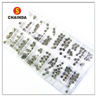 New 250pcs Watch Crowns Silver Spares/Repairs Mixed Full Metal in Good Quality for Watch Repair