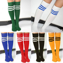 f9e84a2a1c4 Unisexe adulte rayé Football Baseball Football chaussettes épaissir sur  genou cheville sport longues chaussettes pour fille