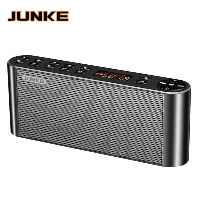 JUNKE HIFI بلوتوث ستيريو سمّاعة لاسلكيّة محمولة سوبر باس مكبر صوت مزدوج مع مايكروفون TF USB FM راديو USB صندوق الصوت العمود