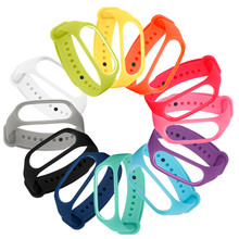 1pcs Miband3 Ersatz Armband Trägern Weicher Silikon Uhr Armband für Xiaomi Mi Band 3 Strap Orange schwarz Rot
