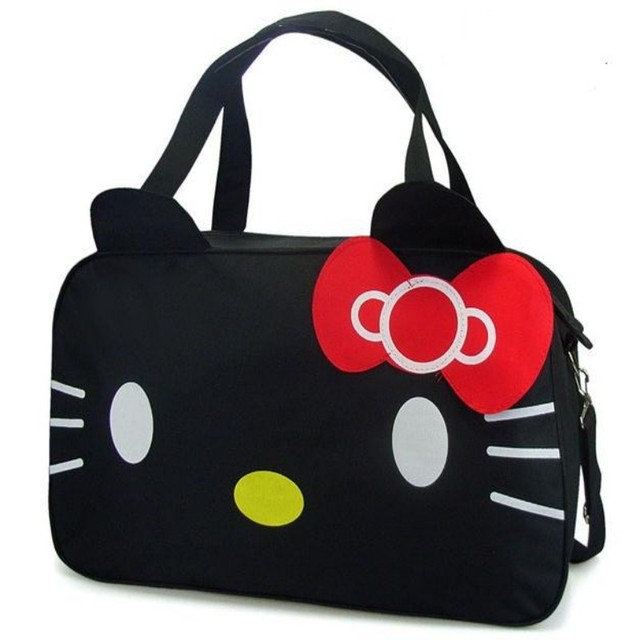 Hello Kitty clutches large casual tote travel bag women cartoon leather bow  designer brand handbag bolsas 499d25f82fba2