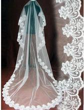 2020 Een Laag 3 Meter Lange Sluier Bridal Veil Lace