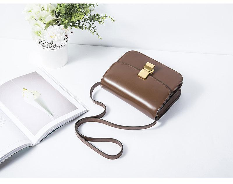 f338ff818d57 MK Genuine Leather Women Shoulder Bag Cowhide MK Crossbody Bags Handbags  Message Bags Girls Flap Lady Party Lock Purse 4 Colors