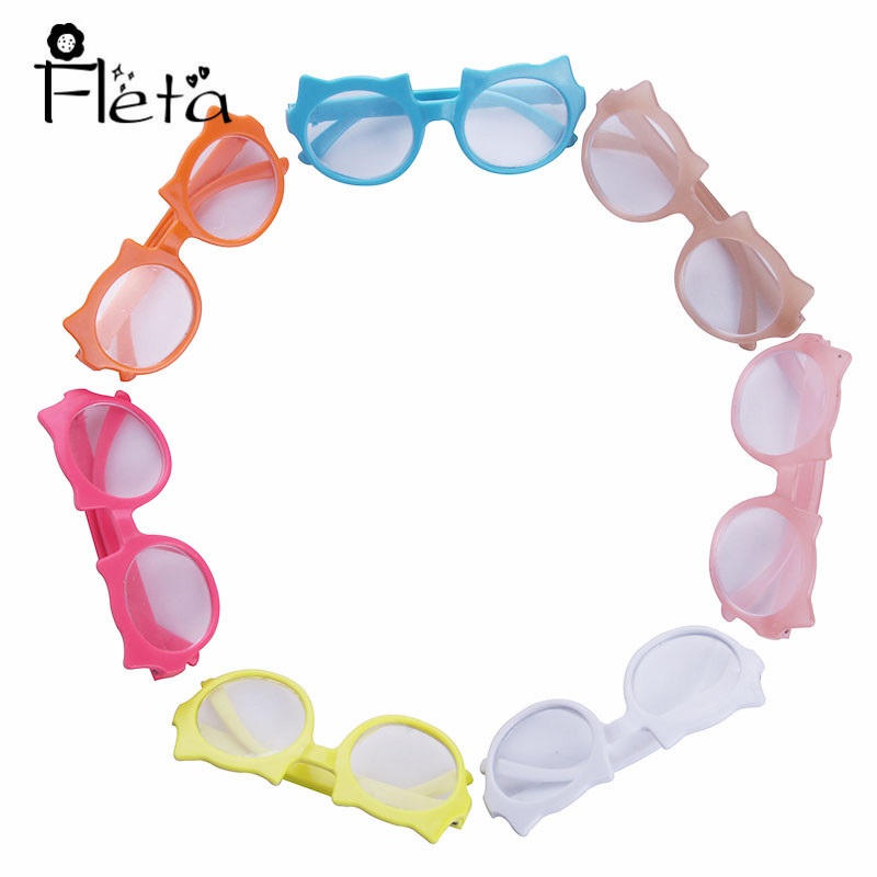 Doll Clothes Accessories 7 Colors Sunglasses Fit 18 Inch American&43 Cm Born Baby Our Generation Christmas Birthday Gift