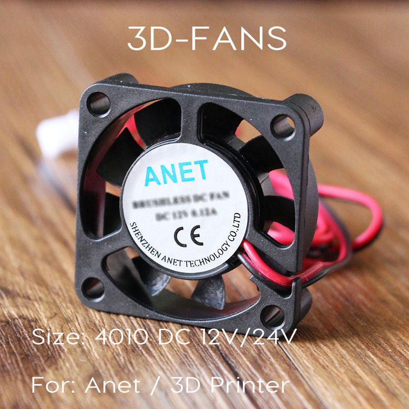 Anet A8 A6 4010 FAN 12V 24V Circuit Board Heat Cooler Ventilator Small Fan For 3D Printer