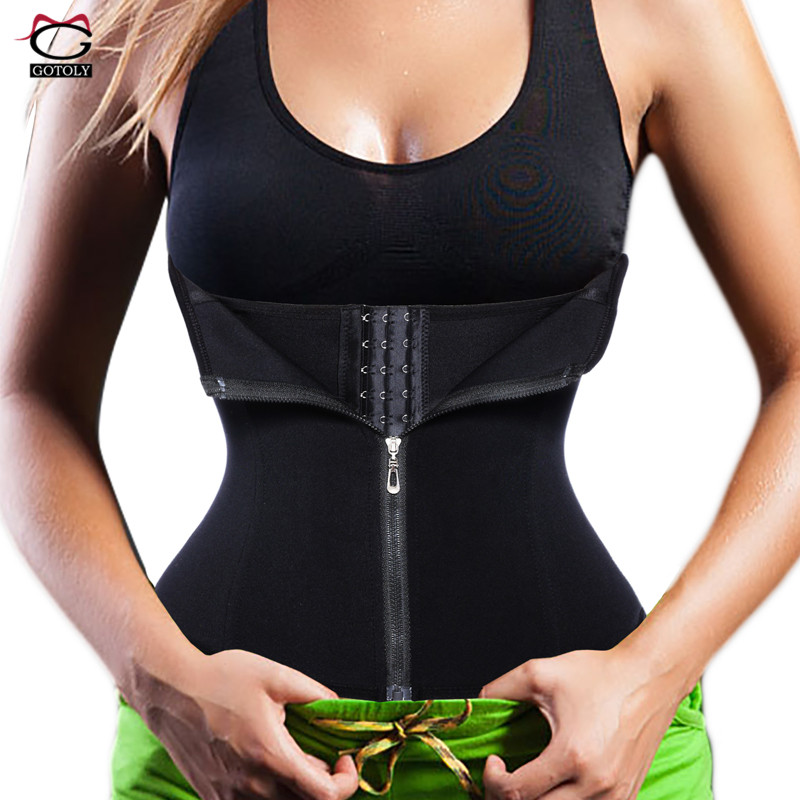 19fc7580c1724 New Waist Trainer Seamless Belt Hourglass Zipper Corset for Women Weight  Loss hot Body Shaper Modeling Strap Slimming Shapewear
