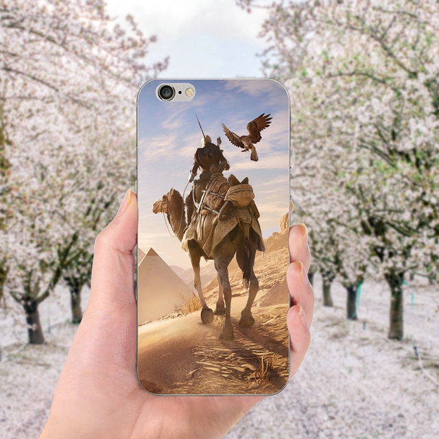 Soft TPU Silicone Cell Phone Cases for iphone X Case Back Cover for iphone 6S 7 8 Plus 4 4S 5 5S SE Bags Assassins Creed Odyssey 1