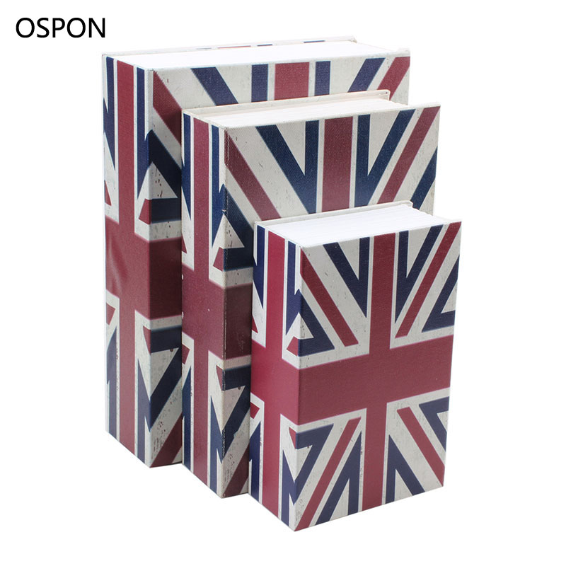 OSPON Book Safes Simulation Dictionary Secret Money Box Metal Steel Cash Secure Hidden Piggy Bank Storage Collection Box Size L