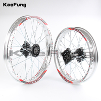 Silver 12mm 15mm Front 1.40 14 inch Rear 1.85 12 inch aluminium Alloy Wheel Rim For 160cc 150CC Dirt Pit bike 12 14 inch wheel