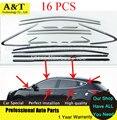 Para Hyundai IX35 moldura da janela/tampa/guarnição, de aço inoxidável, atacado (up + baixo + frente trinagle + triângulo traseiro), o total de 16 pcs, 2010-2015 C