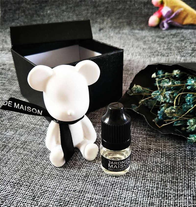 Gips niedźwiedź samochód odświeżacz powietrza niezbędne Auto AC zacisk wentylacyjny Car Styling wylot perfumy zapach kwiatów Fragrancy stałe dyfuzor M4