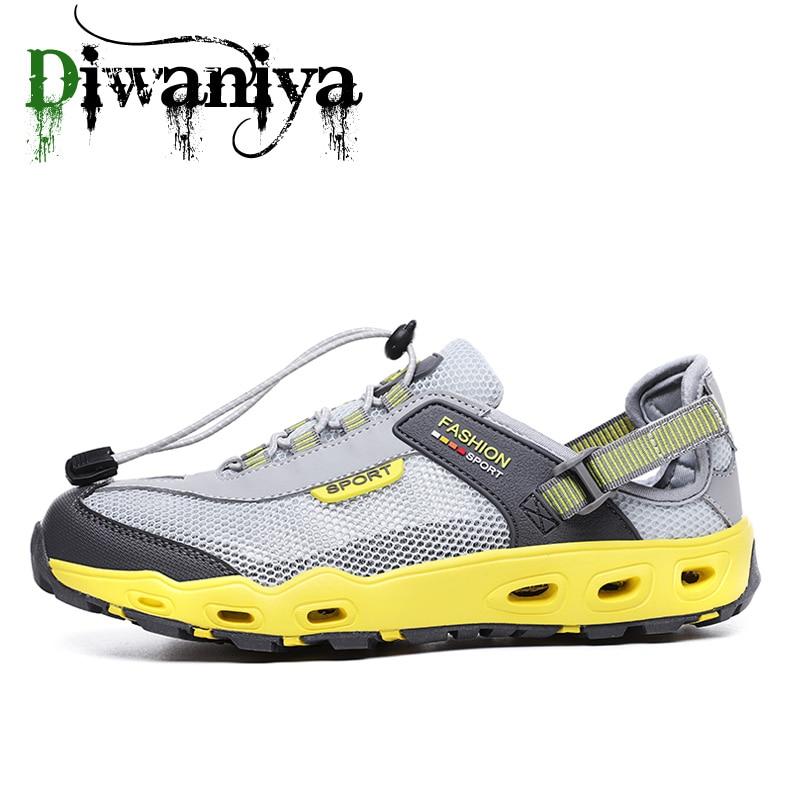 Homens Malha Do Aqua Sapatos Upstream Sapatos de Trekking Ao Ar Livre Profissional Não-slip Durable Frio do Sexo Masculino Tênis Para Caminhada Vadear Tênis de Esportes Aquáticos