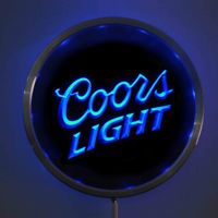 Rs A0012 Coors Light Beer LED Neon Round Signs 25cm 10 Inch Bar Sign With RGB
