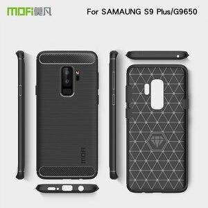 Чехол Mofi для Samsung Galaxy S9 Plus G9650, карбоновый чехол для телефона, мягкий силиконовый бампер, задняя крышка S9 Plus, защитный чехол