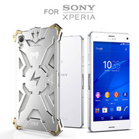 Simon Thor Iron Man For Sony Xperia Z4 Case Metal Cover Aviation Aluminum Rugged Armor Phone