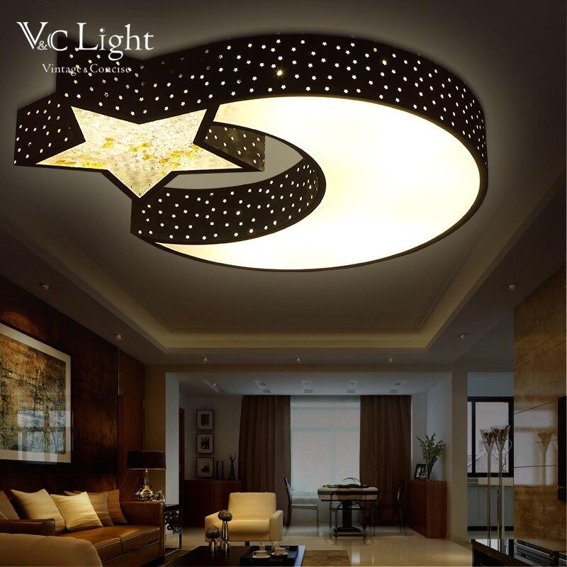 Modern LED Ceiling Lights for Living Room Star Moon Lampe