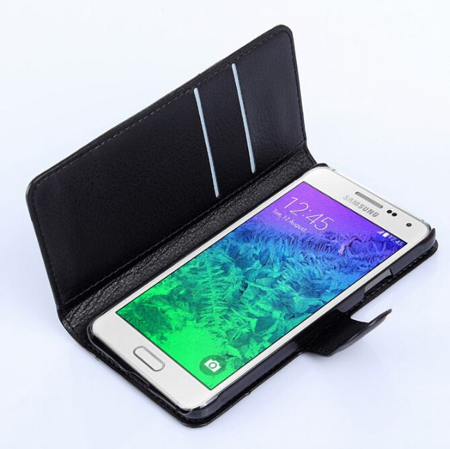 hot sale online 5e4f3 62164 US $5.09 |For Samsung GALAXY Alpha case cover,New 2014 luxury flip leather  wallet stand phone case cover For Samsung GALAXY Alpha G850F-in Wallet ...