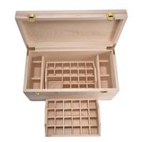 Natural Pine Wooden Storage Box Oil Essential Oil Organizer Multi layer Essential Oil Packaging Container