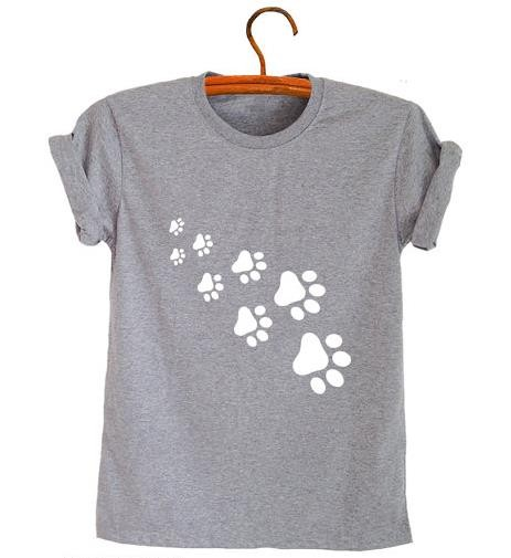 cat paws print Women tshirt 5