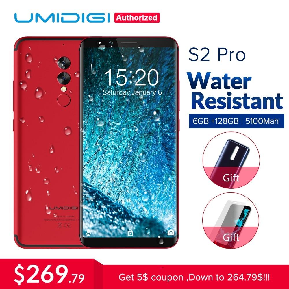 UMIDIGI S2 Pro полный Экран 6,0 дюймовый смартфон 5100 мАч 6 ГБ + 128 ГБ Helio P25 Восьмиядерный android 7,0 4 г LTE Dual SIM мобильный телефон