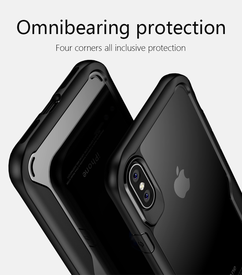 LUPHIE Shockproof Armor Case For iPhone X 8 7 6 6S Plus 5 5S SE Transparent Case Cover (10)