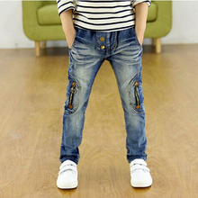 3 12Yrs Baby Boys Jeans 100 160cm Brand Big Children Jeans Pants 2016 Autumn Fashion High