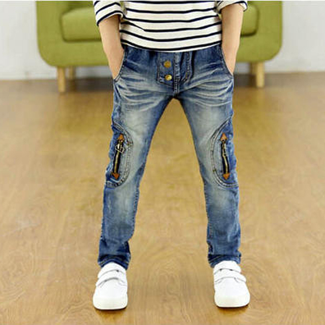 3-12Yrs Baby Boys Jeans 100-160cm Brand Big Children Jeans Pants 2016 Autumn Fashion High quality Children Clothing Kid Trousers