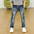 3-12Yrs Niños Bebés Pantalones Vaqueros de 100-160 cm Marca de Los Niños Grandes Vaqueros Pantalones 2016 Otoño Moda de Alta calidad Ropa de Los Niños Pantalones del cabrito