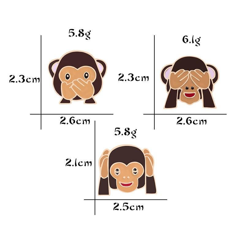 3 Style Psotny Zabawny Czat Wyrażenie Małpa Broszki Dla Kobiet Mężczyzn Płaszcz Sweter Akcesoria Do Plecaków Osobowość Emalia Pin Broszki Aliexpress