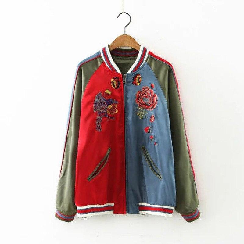 Dans Et Manteau Broderie Vent En Europe Le L82313 Veste Nouveau Mode Trafic Couleur Deux See Chart Blouse Favorise Les Contraste Feu Dames xwHnYCnq6