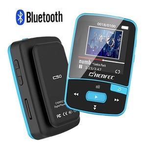 Image 1 - 2020 Sport Clip Bluetooth MP3 Music Player Original ChenFec C50 1.5 Inch Screen With FM Radio, E Book, Clock, Data Free Shipping