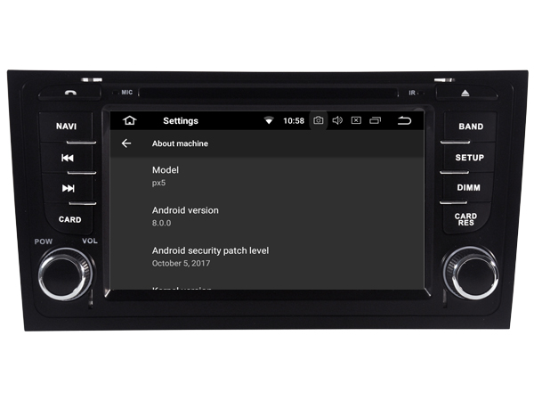 Latest Android 8.1 car DVD player multimedia for AUDI A6 S6 RS6 1997-2004 tape recorder radio stereo DVR 3G bluetooth headunits