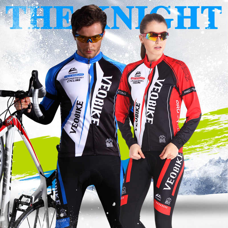 2017 Cycling Set Men Women Bicycle Clothing S 2XL 3XL GEL Bike Jerseys Sets ropa ciclismo invierno hombre Thermal Fleece Winter