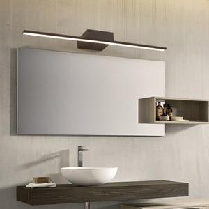 Image 5 - Luzes led de espelho para banheiro, nova chegada preta/branca 400/600/800/1000/1200mm lâmpada led de espelho para banheiro, maquiagem moderna