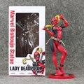 24 cm Senhora Deadpool Deadpool Figura Menina com Caixa De Varejo X HOMENS PVC Action Figure Modelo Coleção Toy