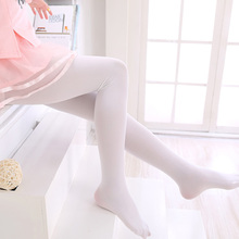 Child dance socks pantyhose summer white velvet elastic female child ballet socks dancing socks