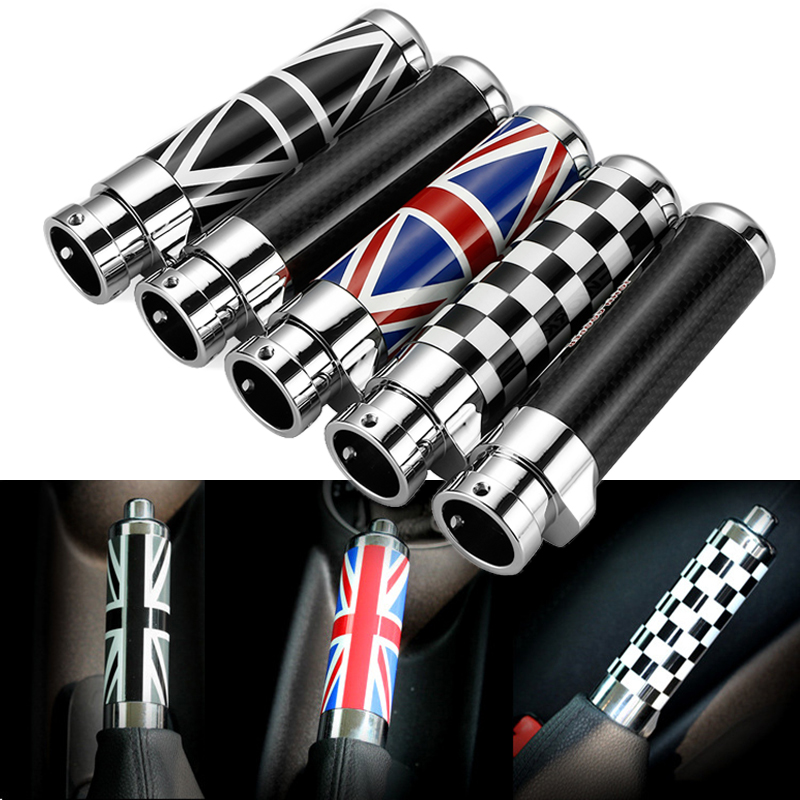 Color Carbon Fiber Handbrake Grips Emergency Cover Trim For BMW Mini Cooper Clubman R55 R56 R57 R58 R59Car Interior Accessories цена