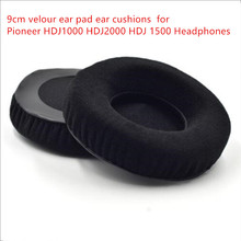 Linhuipad 50 pack 9cm VELOUR  Ear pad Cushion for HD205 HD225 HD215 PIONEER HDJ2000 HDJ1000 headphone 90mm replacement ear cup