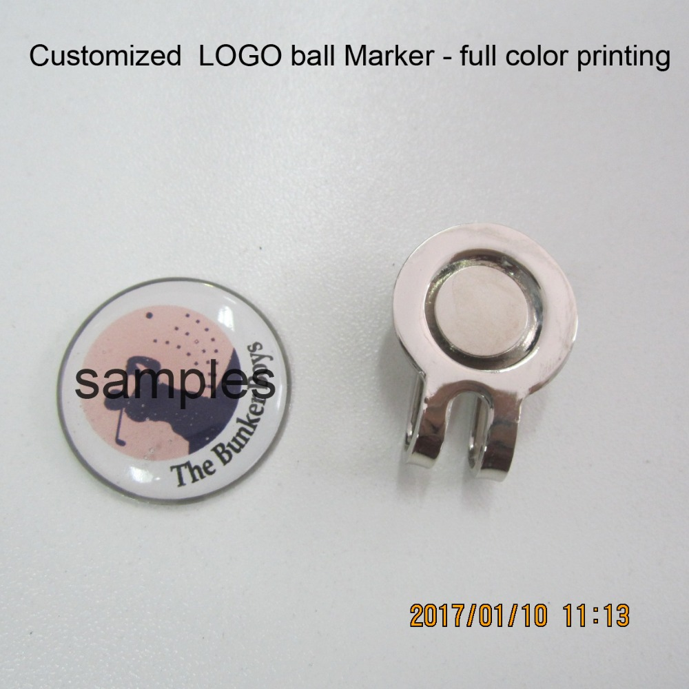 100pcs lot high quality metal golf hat clip with customized logo removable magnet ball marker